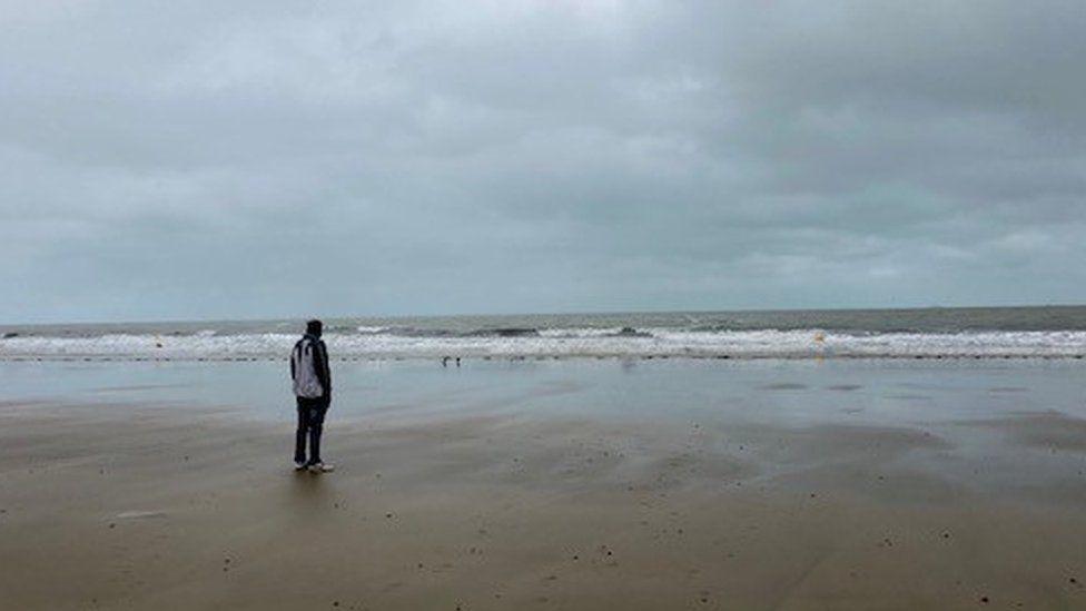 Mohammad Wali on Calais beach
