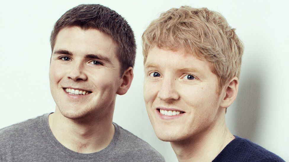 John Collison (left) and brother Patrick