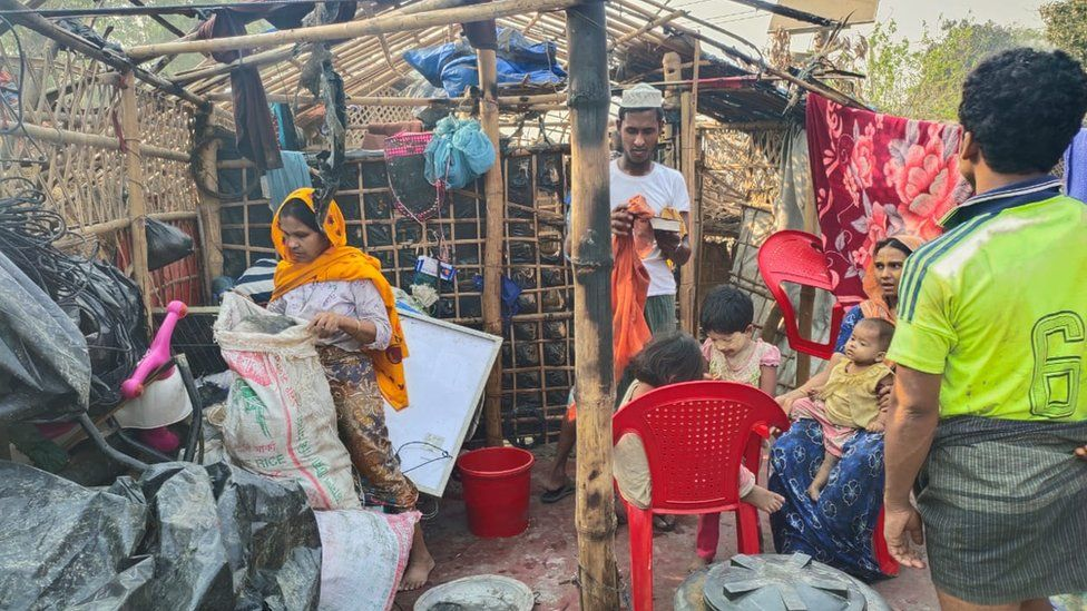 Pictures of a Rohingya refugee camp in Bangladesh's Cox's Bazar after a devastating fire