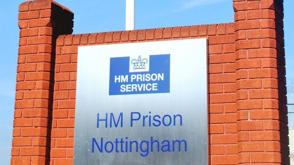Sign outside HMP Nottingham