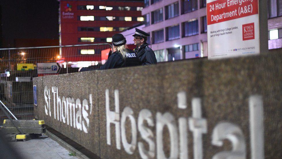 St Thomas' Hospital, central London