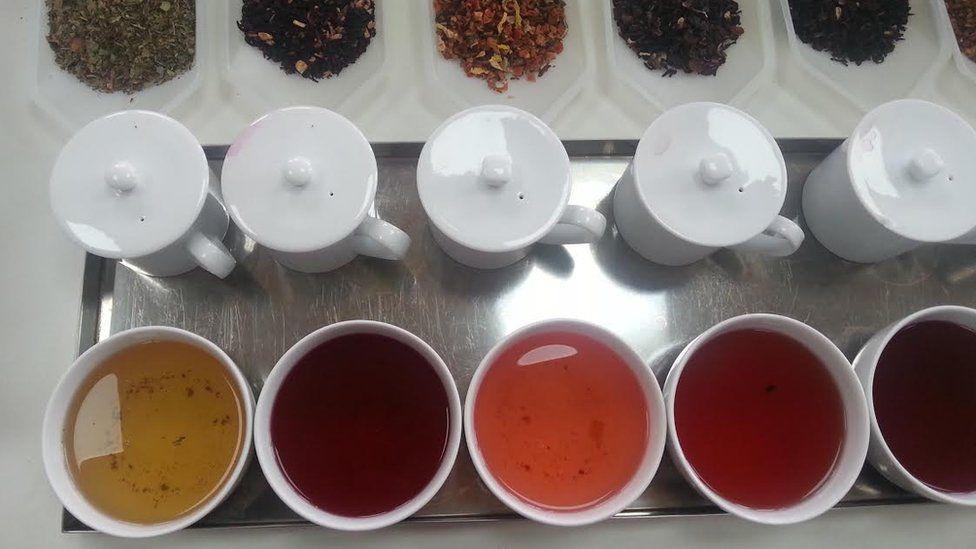 Tea tasting at Newby