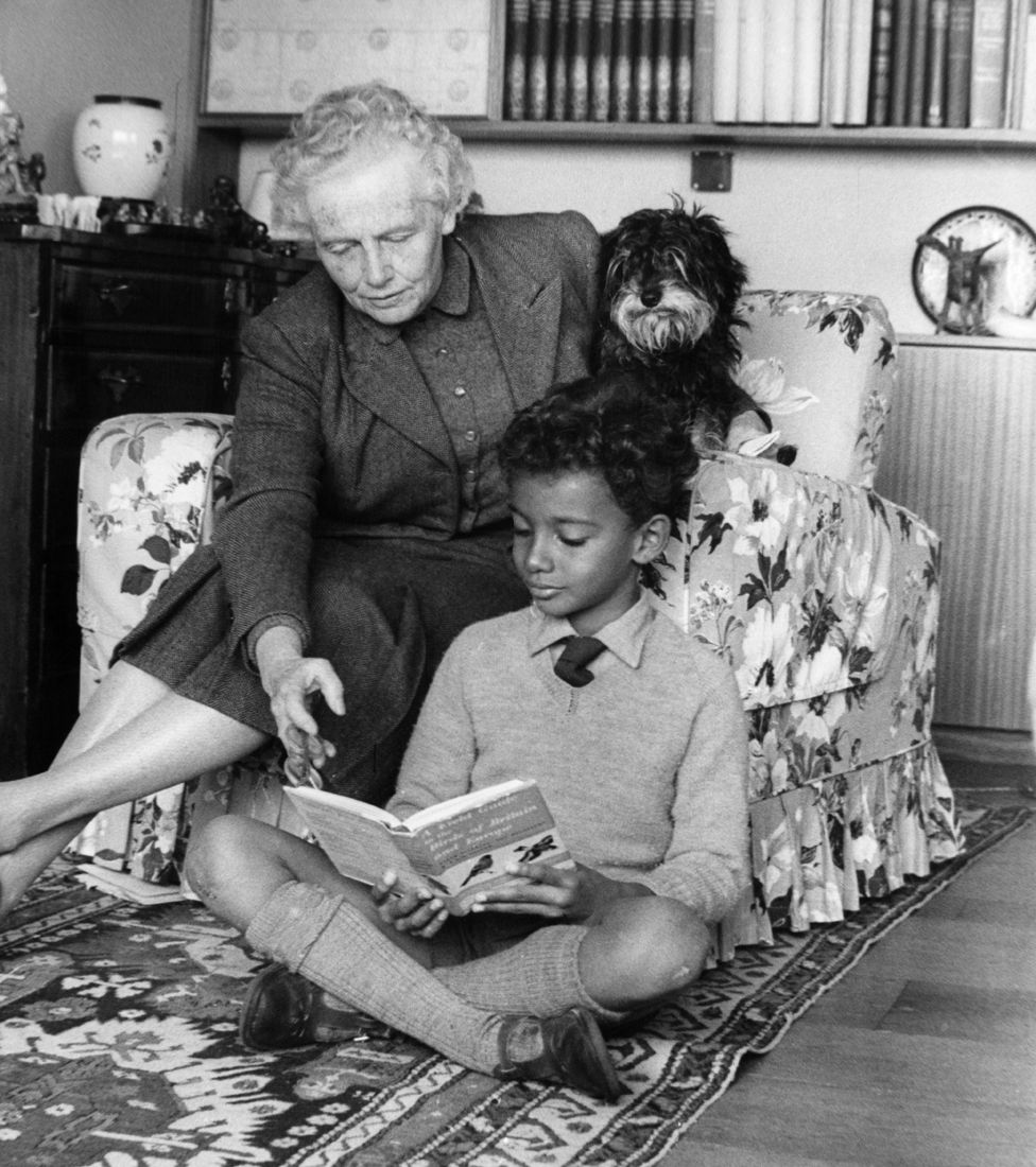 Kwame Anthony Appiah in 1962 with his grandmother