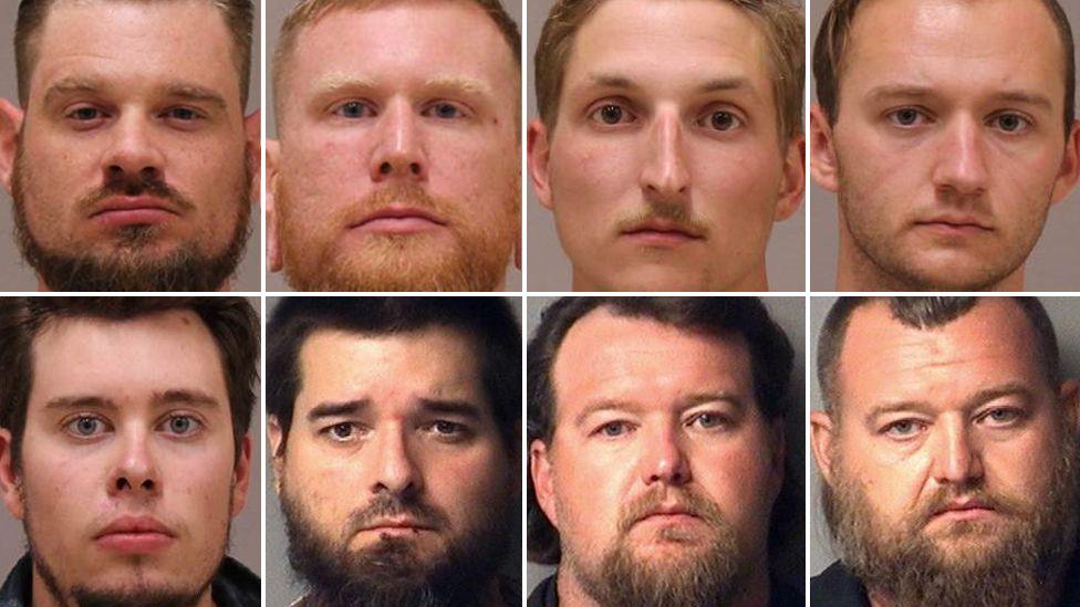 Top (L-R): Adam Fox, Brandon Caserta, Daniel Harris and Kaleb Franks. Bottom (L-R): Ty Garbin, Eric Molitor, Michael Null and William Null