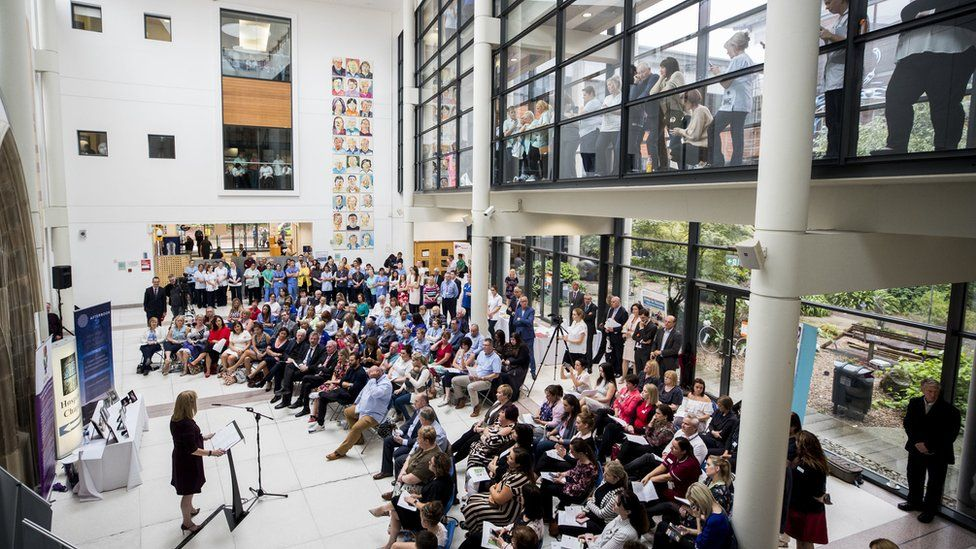 People attending the launch of NIPanC at the Mater Hospital in Belfast