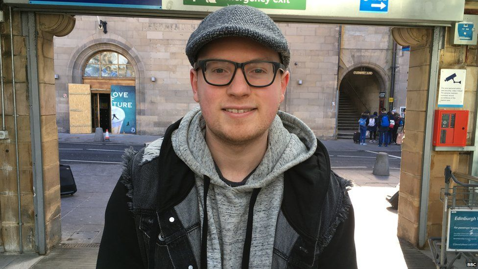"""Lewis Wake, 26, from Edinburgh: """"I'm a big fan of the whole Marvel Cinematic Universe"""""""