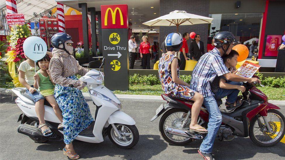 McDonald's restaurant being opened in Ho Chi Minh City, on 8 February 2014