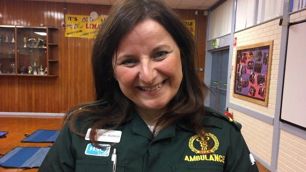 Karen Muldoon, Northern Ireland Ambulance Service's community resuscitation officer in the west