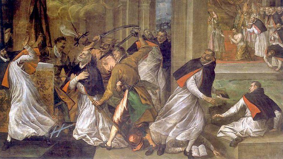 Т. Долабелла. Смерть Томаса Бекета. Изображение с сайта bbc.com
