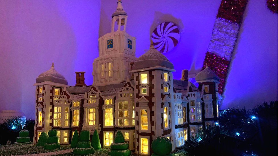 Blickling Hall gingerbread house