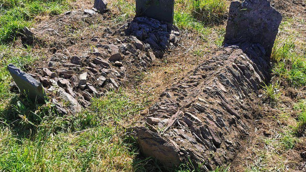 graves at St Matthew's Templebreedy Church