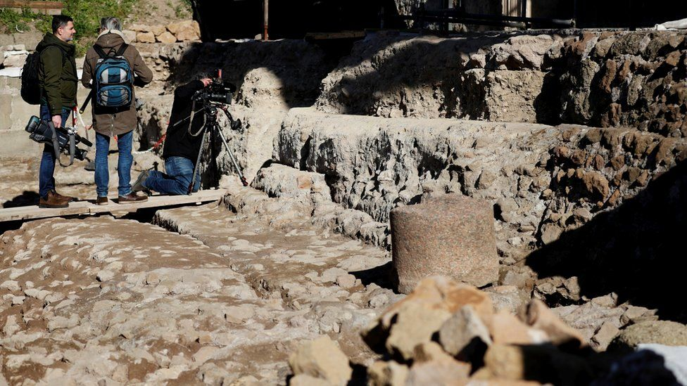 The entrance to an underground shrine believed to be dedicated to Romulus, the legendary founder of Rome, 21 February 2020