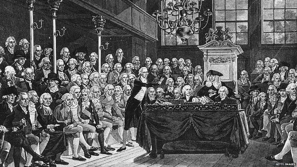 William Pitt the younger speaking in Parliament in 1793