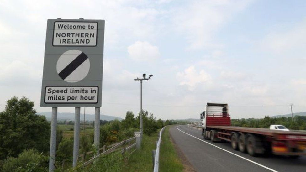 Border sign in Northern Ireland