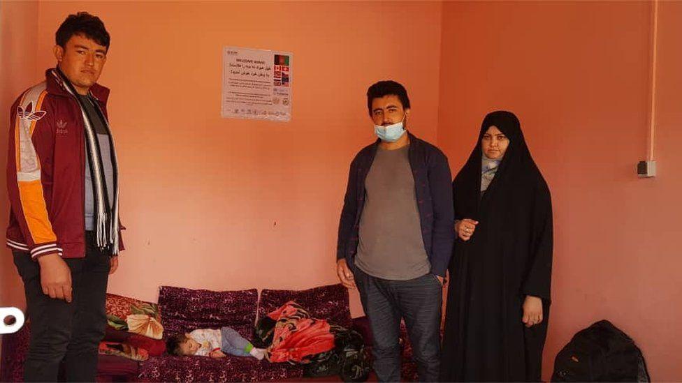 Abdul Maez and his family at Islam Qala border
