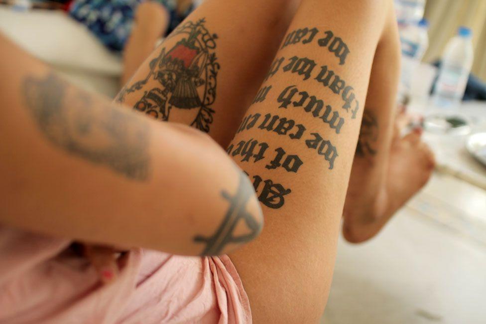 Amina Sboui's tattoos