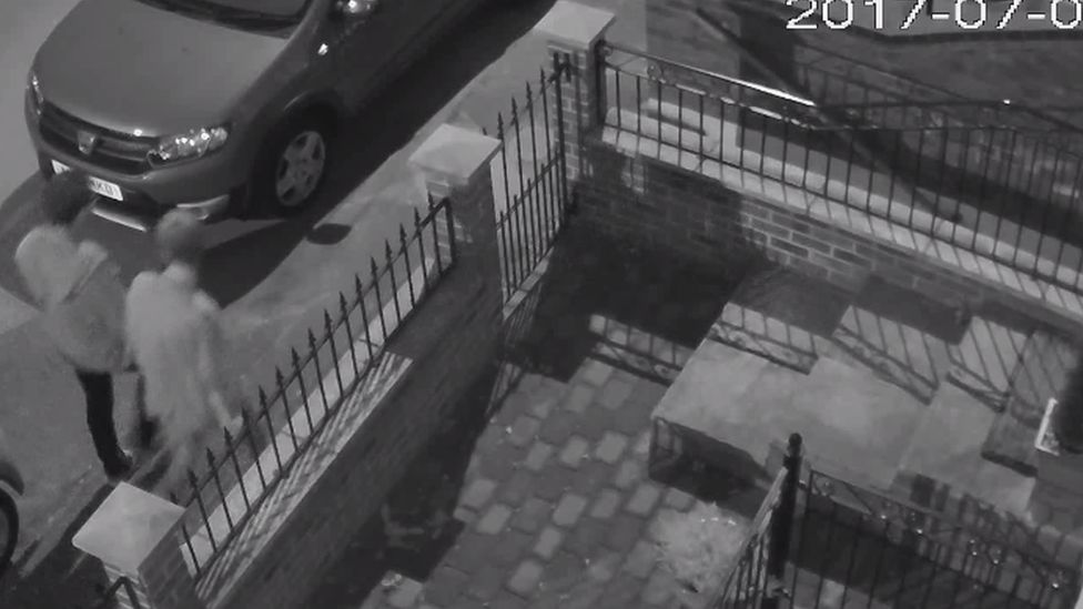 Two people seen on CCTV walking along Yarmouth Road, near to the fish and chip shop, towards Thorpe St Andrew