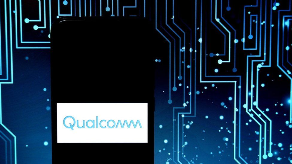 Qualcomm logo on circuit board