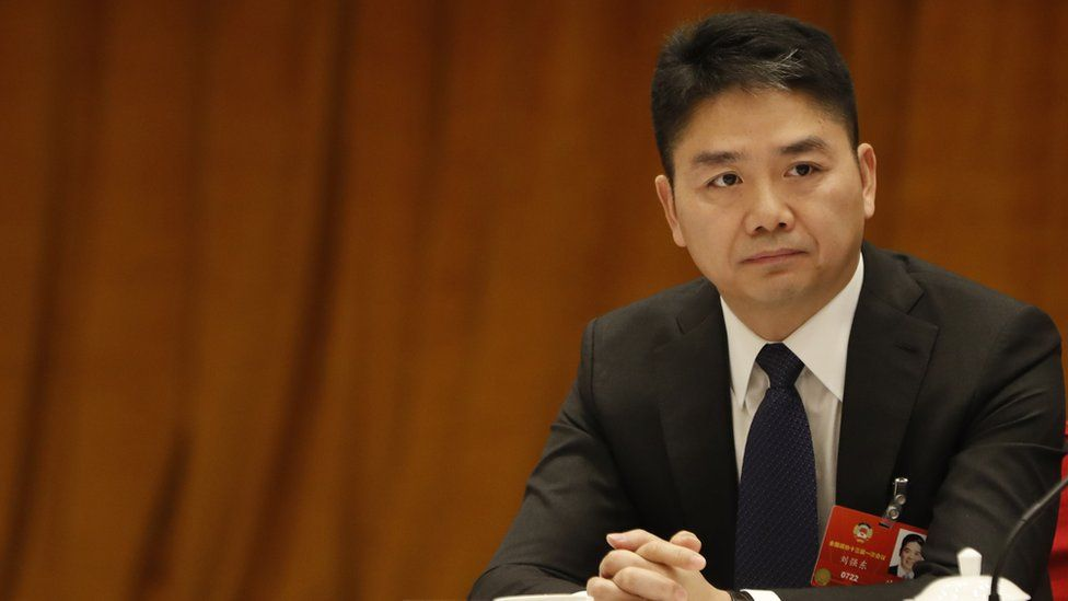 CEO of JD.com Richard Liu Qiangdong attends a panel discussion in Beijing