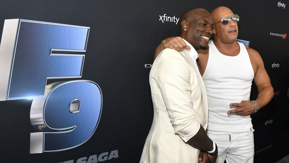 Actors Tyrese Gibson and Vin Diesel pictured promoted the film in January