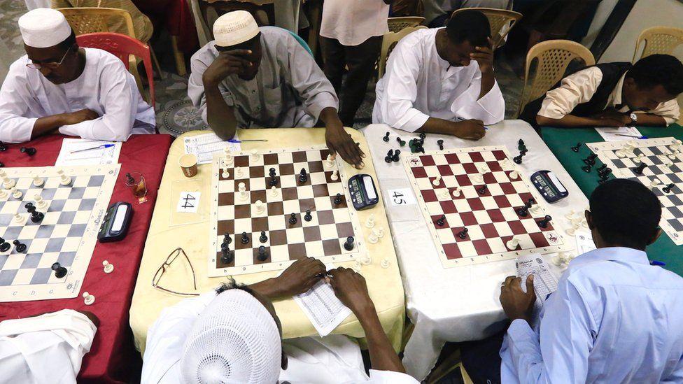 Chess players in Khartoum, Sudan - Friday 29 September 2017