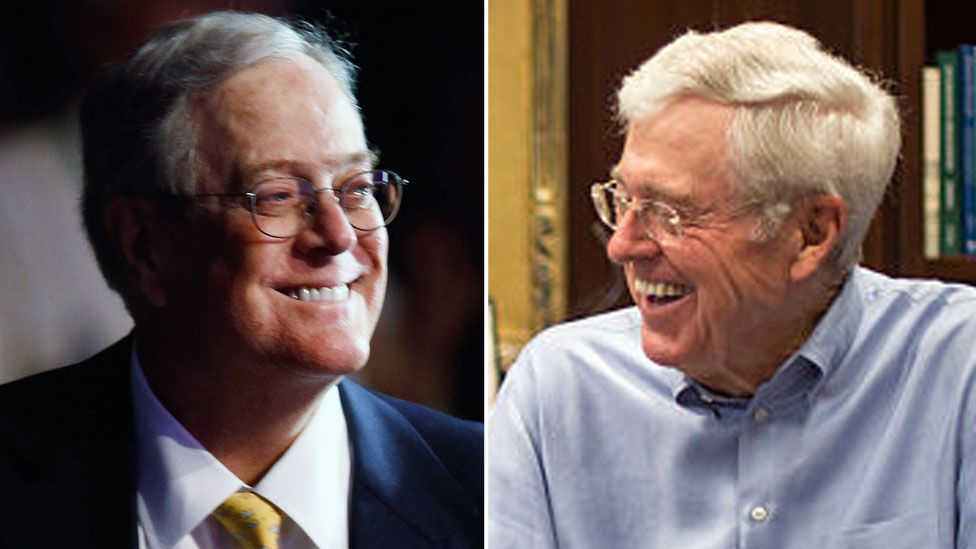 David and Charles Koch shown in a composite image