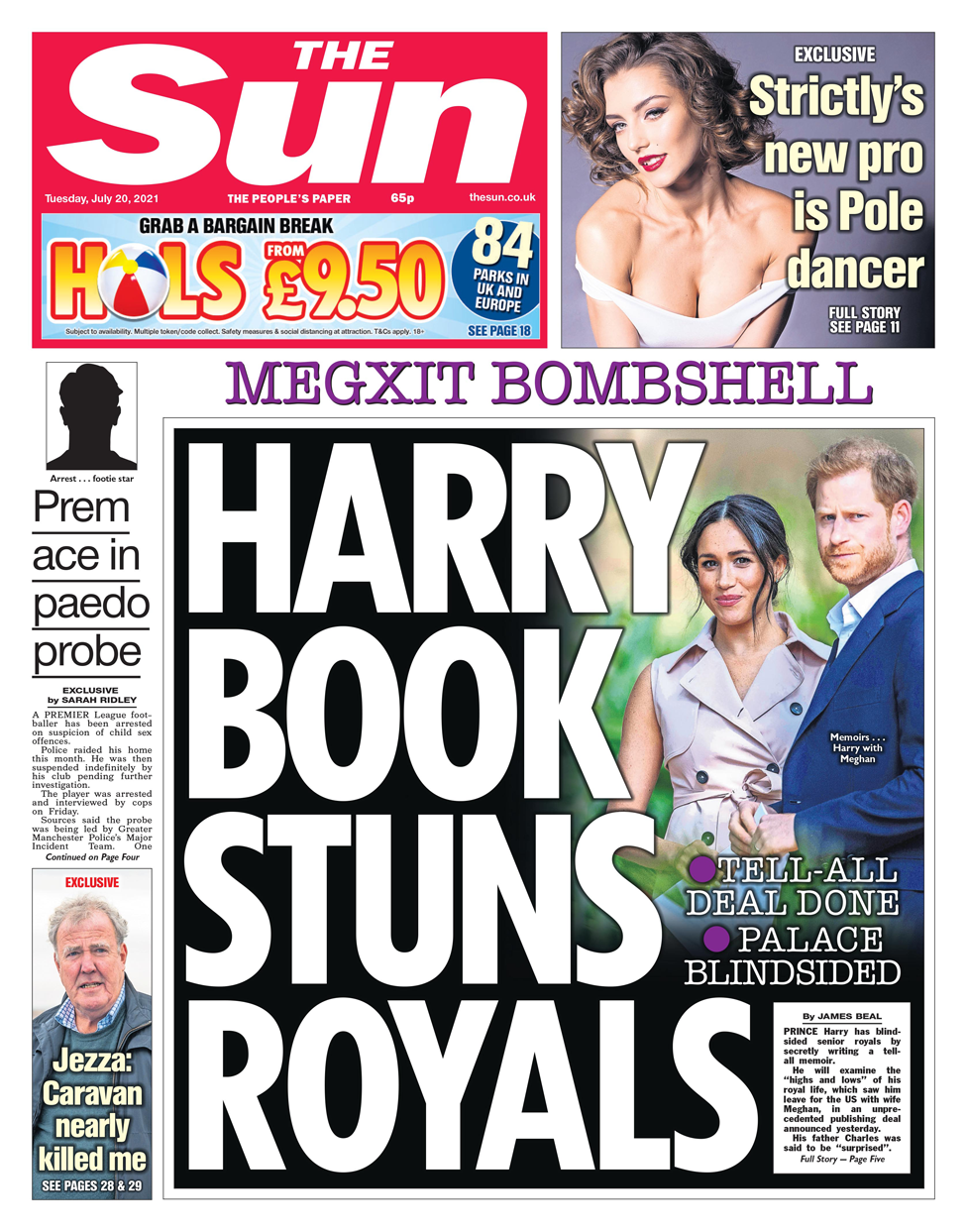 Sun front page 20/07/21