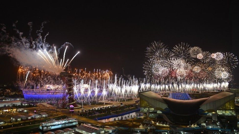 Fireworks at Opening Ceremony of the London 2012 Olympic Games