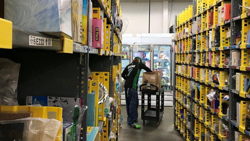 Amazon warehouse in San Francisco