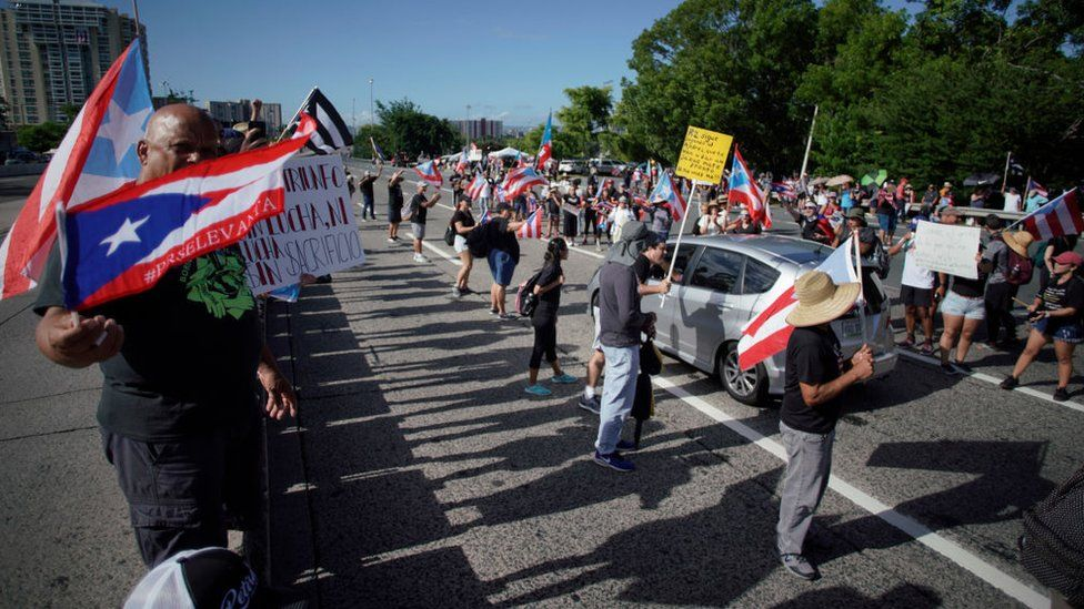 Puerto Rico protesters