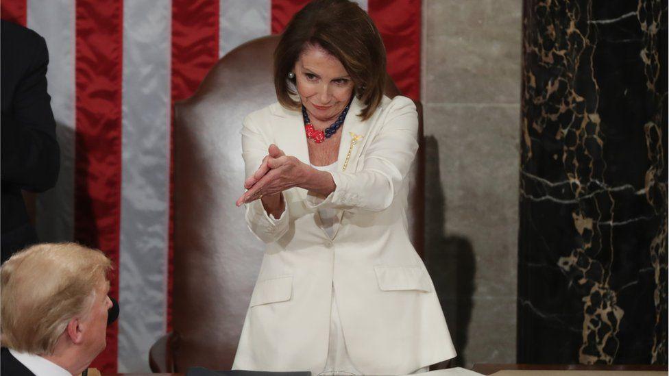 Speaker Nancy Pelosi clapping