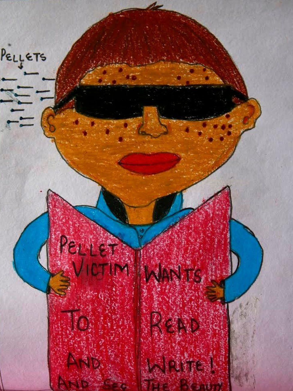 The stolen childhoods of kashmir in pencil and crayon bbc news
