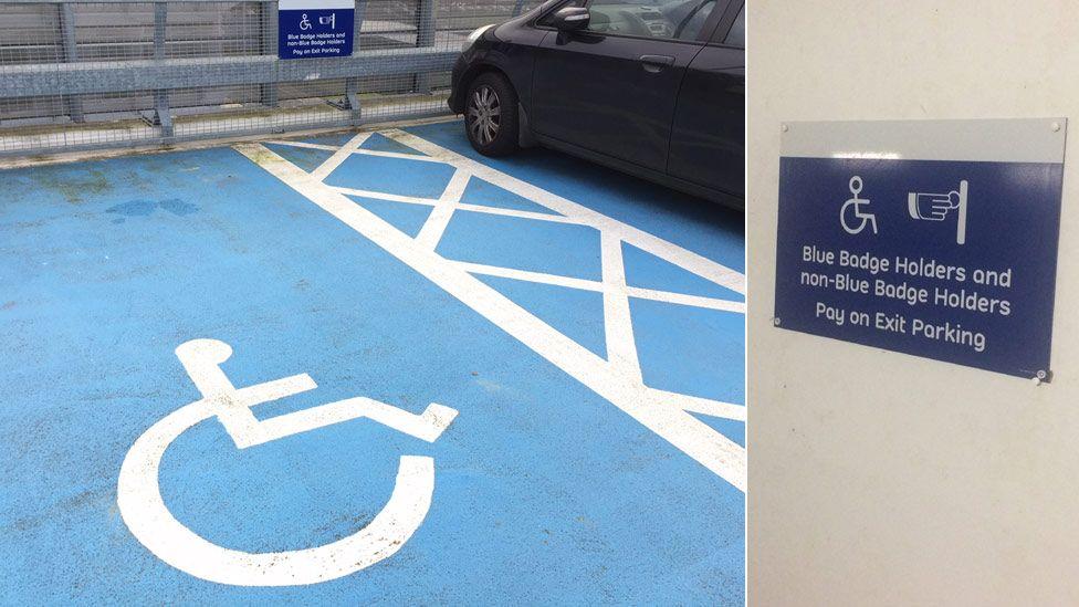 Sign in Indigo's The Quadrant car park in Milton Keynes