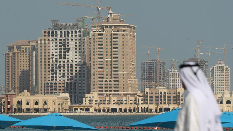 Buildings in Doha, Qatar