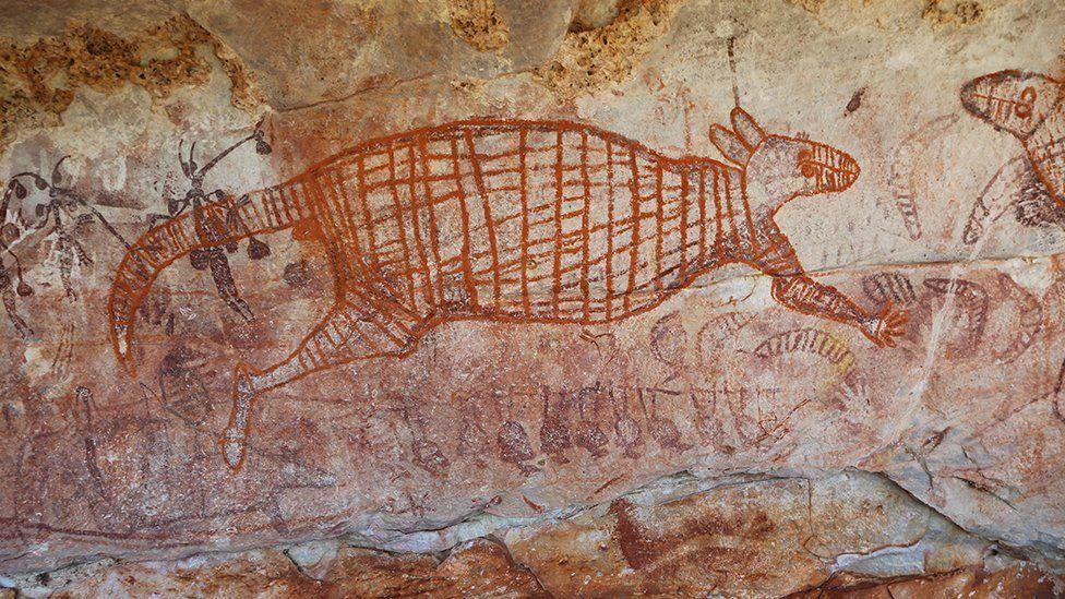 Kangaroo cave painting