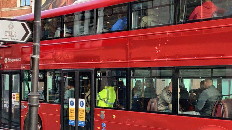 33 bus in Shoreditch