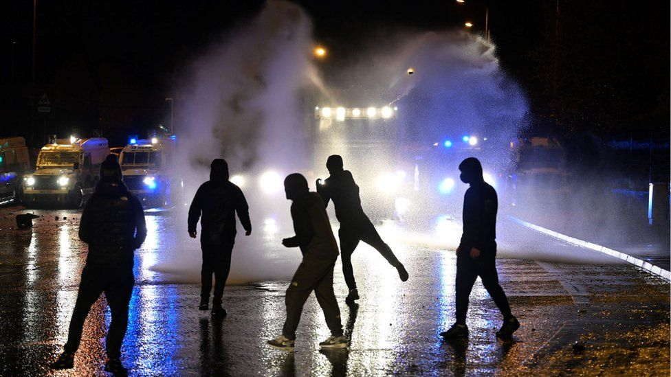 Police deployed water cannon for the first time in six years