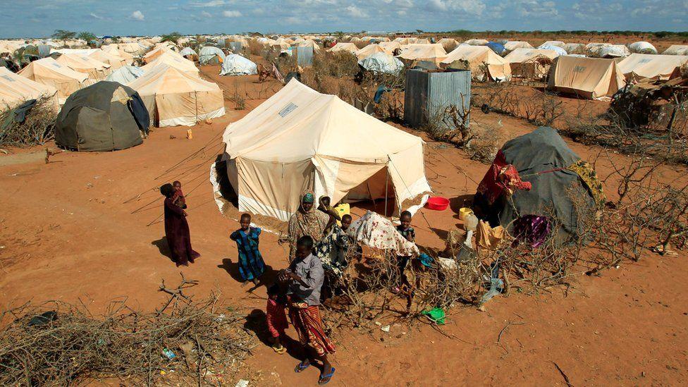 Refugees in Dadaab camp, Kenya, 19 Oct 11