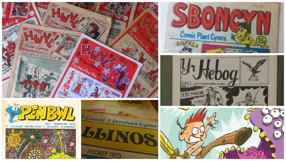 Comics Cymraeg dros y blynyddoedd