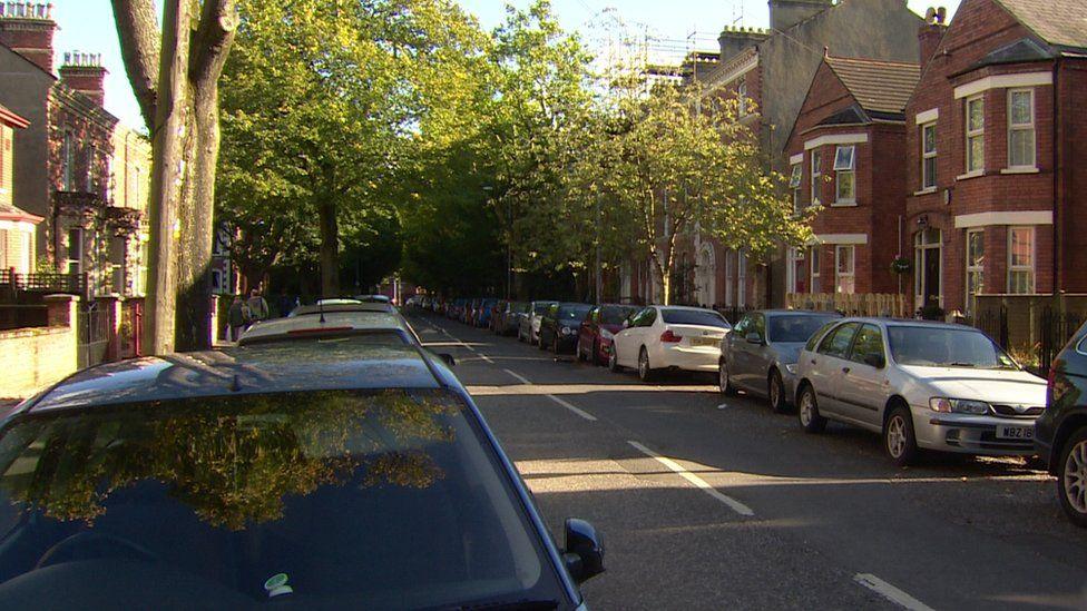 Belfast's Holyland area