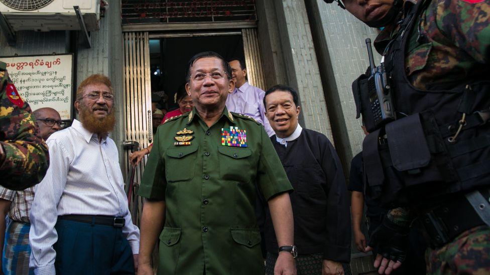 Myanmar military leader Min Aung Hlaing