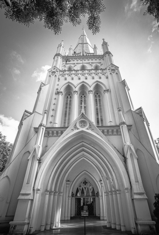 Неоготический собор Сент- Эндрю в Сингапуре