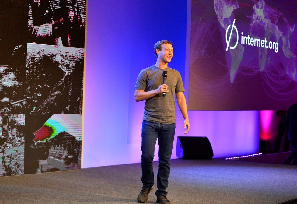 Facebook chief executive Mark Zuckerberg speaking in New Delhi in 2014