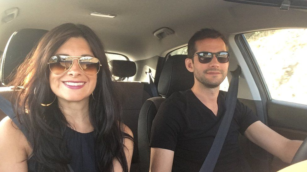 Sophie Sulehria with her husband Jonny