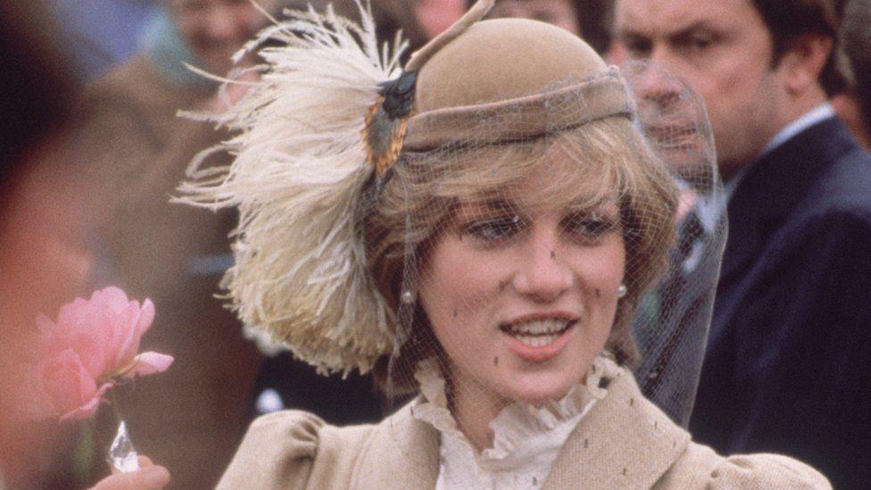 Princess of Wales during a visit to St Davids, Pembrokeshire, November 1981