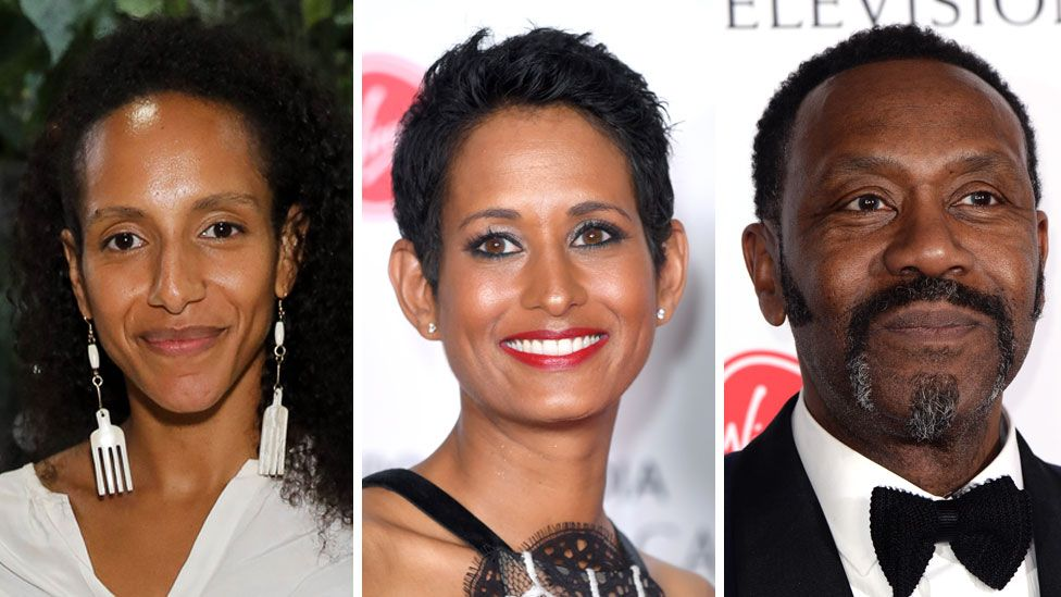 Afua Hirsch, Naga Munchetty and Sir Lenny Henry