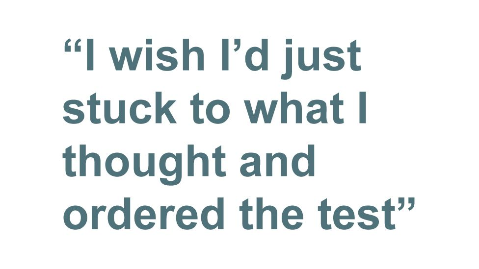 Quotebox: I wish I'd just stuck to what I thought and ordered the test