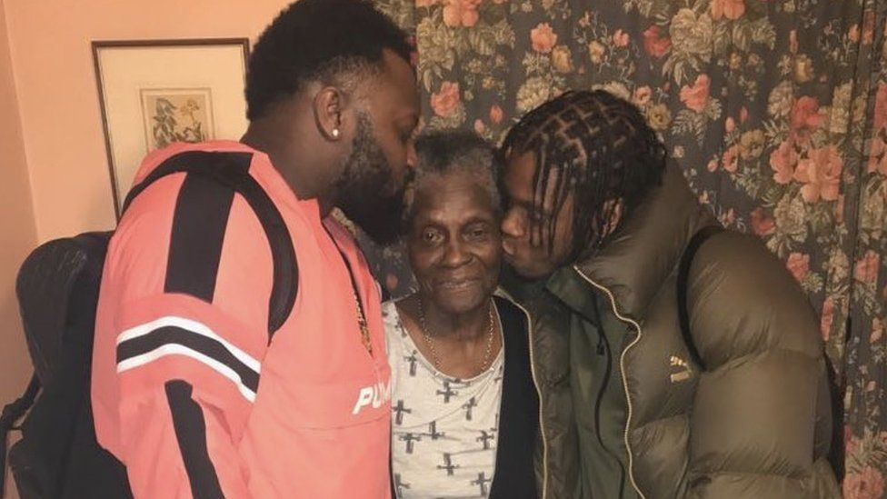 Cadet and Krept with their nan