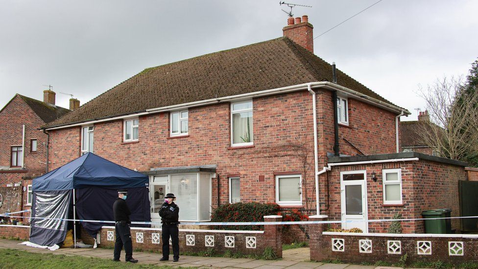 Police at Watermill Lane, Bexhill