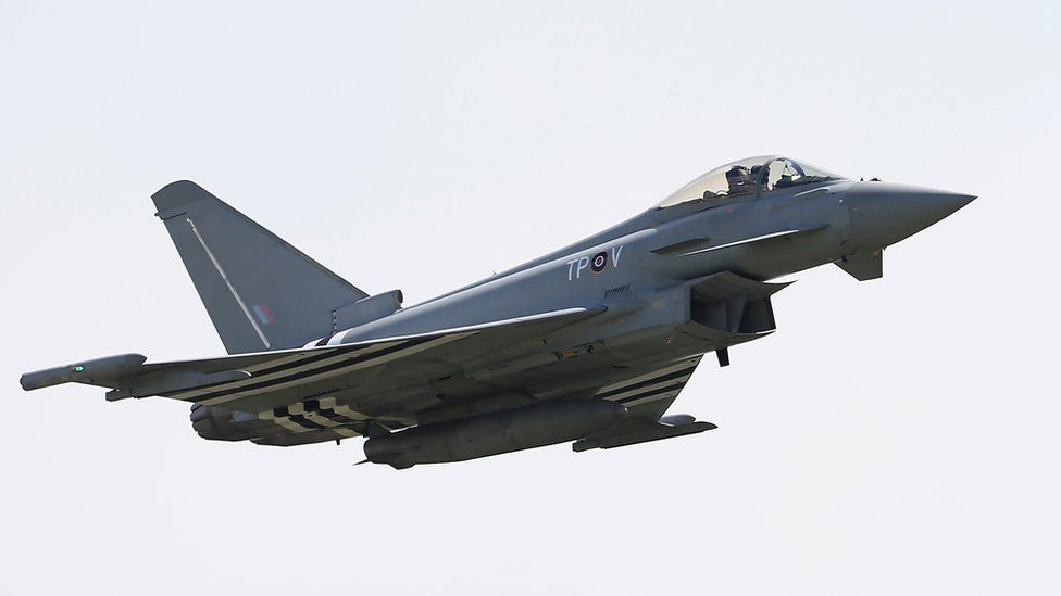 A Typhoon Eurofighter